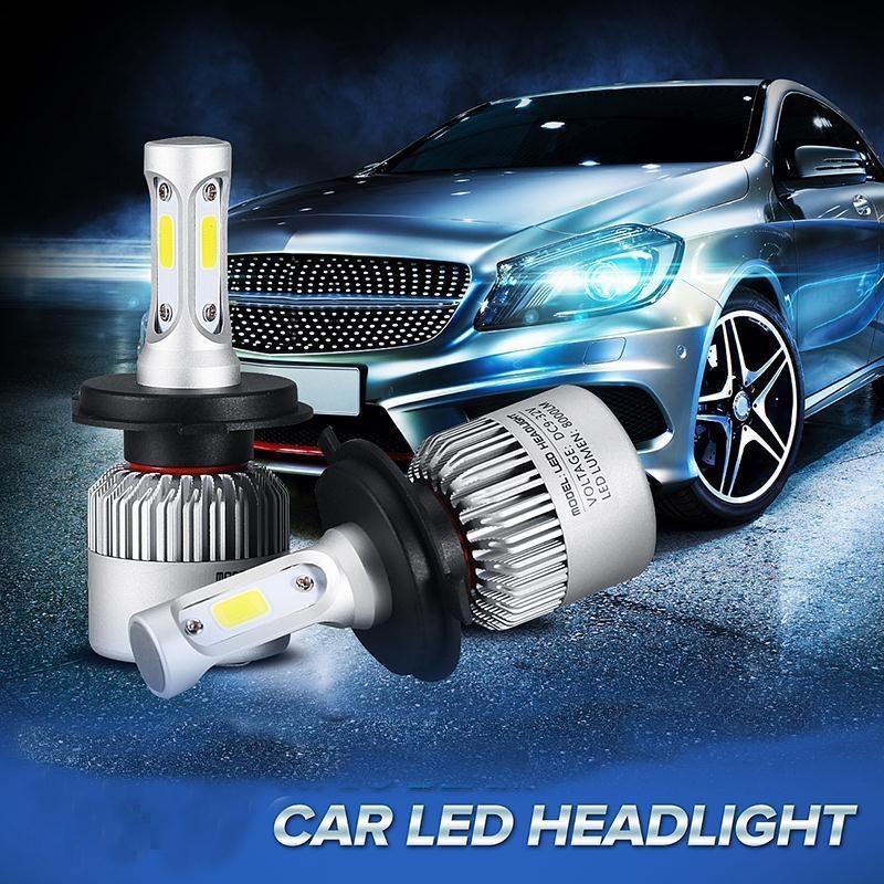 跨境电商热销 S2 汽车 LED 大灯 高亮雾灯H4 LED近远光灯一体