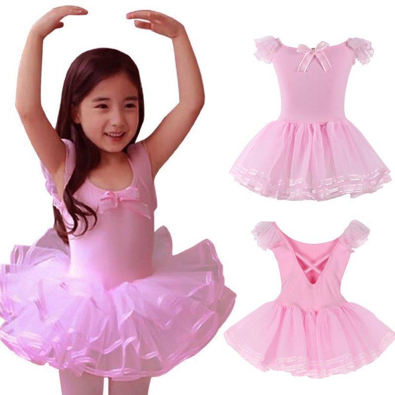 Niñas niños Ballet leotardo Tutu vestido niño patinaje ropa SZ 3-8 ...
