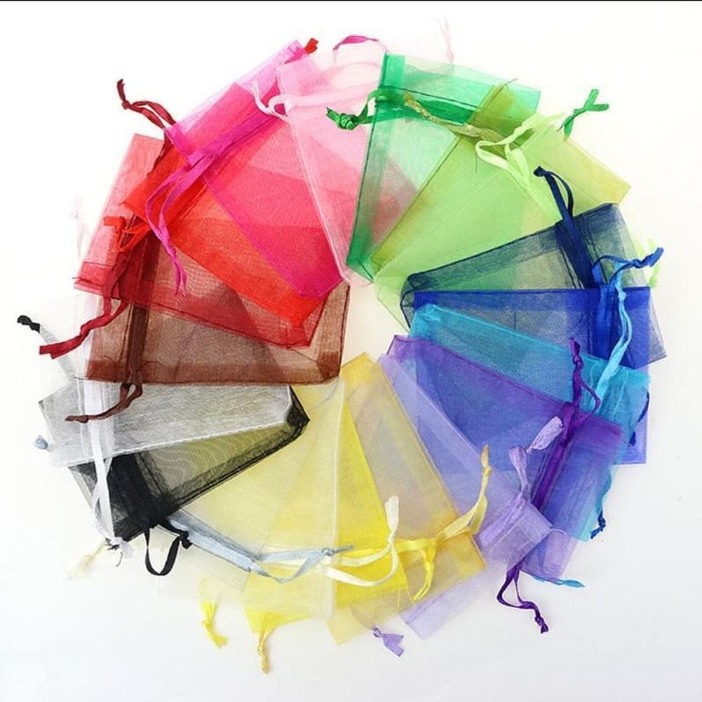 25//50//100Pcs Candy Gift Bag Sheer Organza Wedding Christmas Favor Pouch Supplies