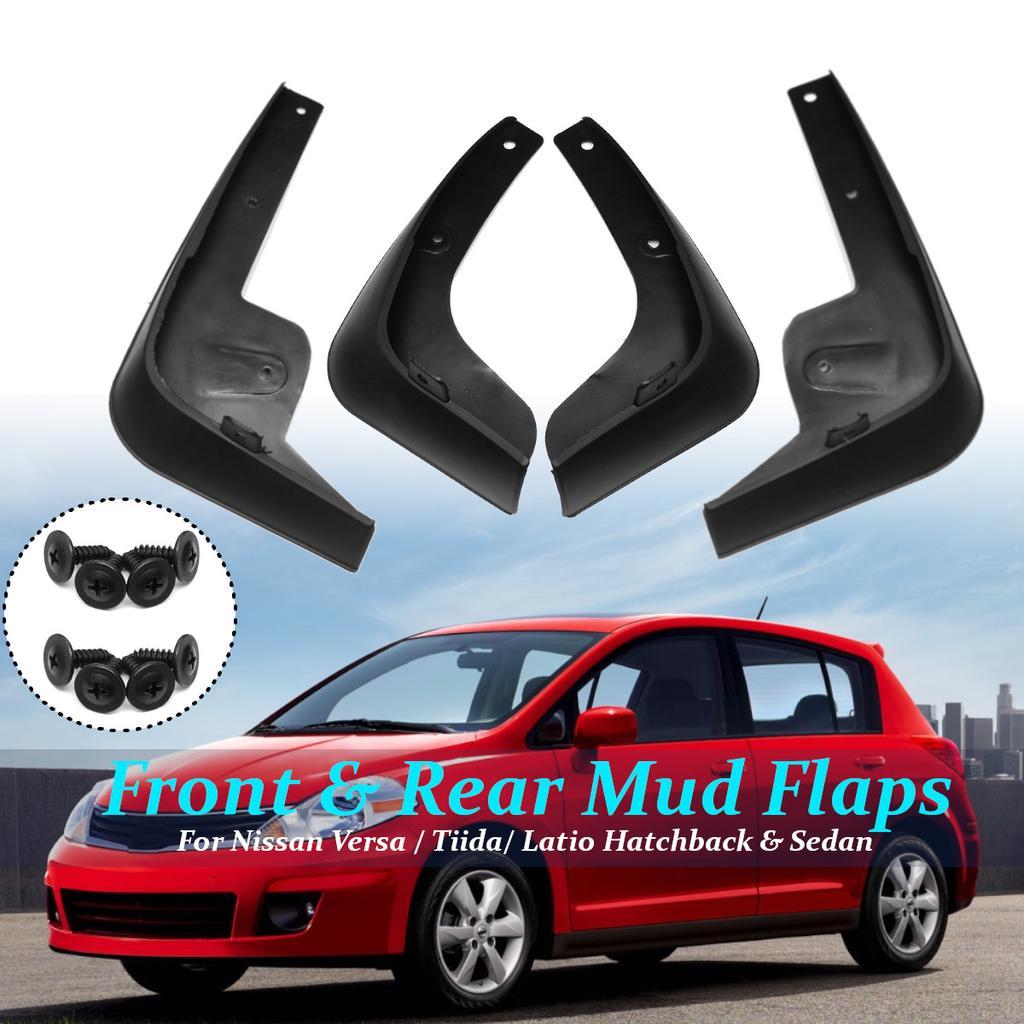 4Pcs Mud Flaps Splash Guards Fender Fit For Nissan Versa Latio Sedan 12 13 14