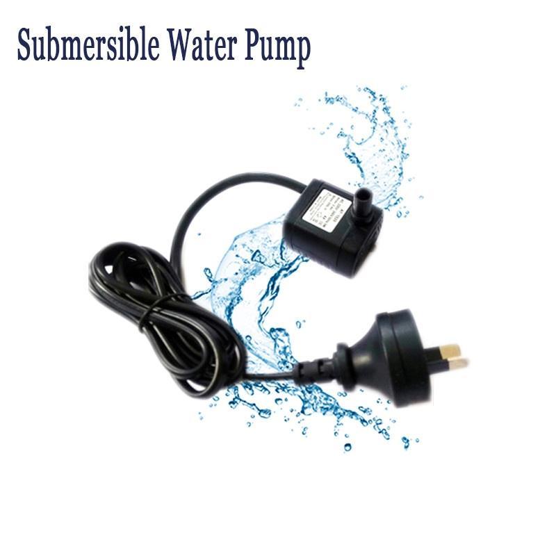 Unterwasser Wasserpumpe Brunnen Schwarz DC 12V//AC 220V Großer Durchfluss