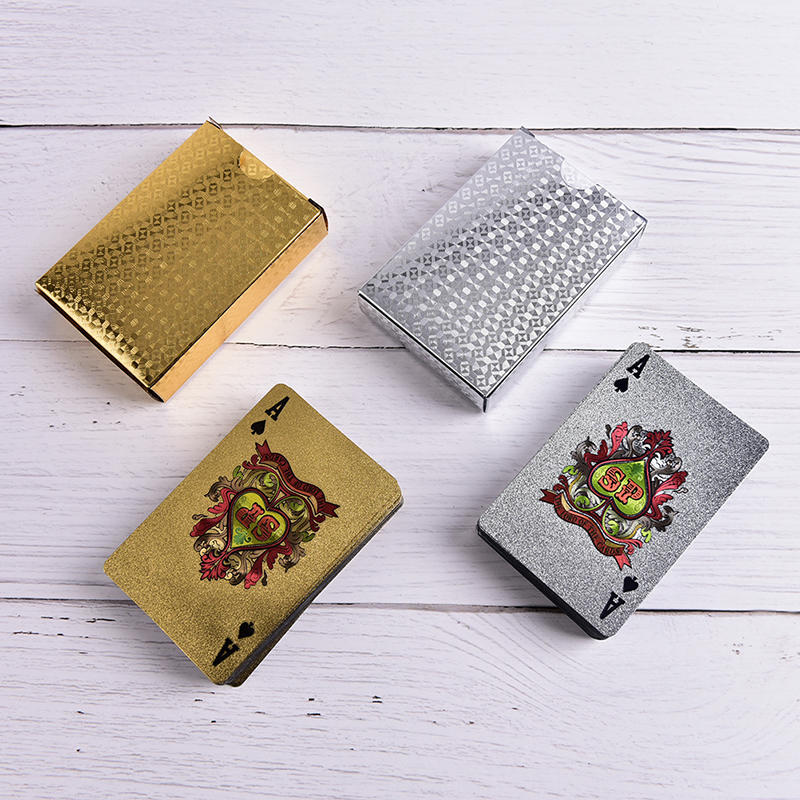 Waterproof Silver 3D Embossing Poker Cards Advanced Plastic Playing Card