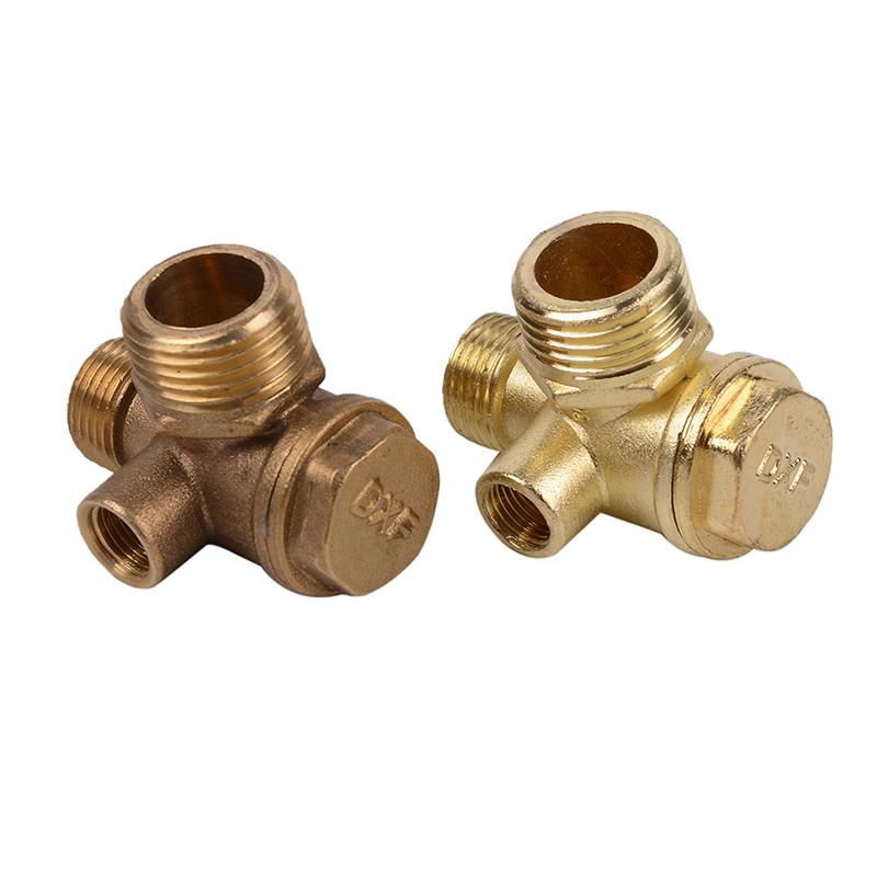 Check Valve Central Pneumatic Air Compressor 40400 3-ports Brass Hydraulic Tool