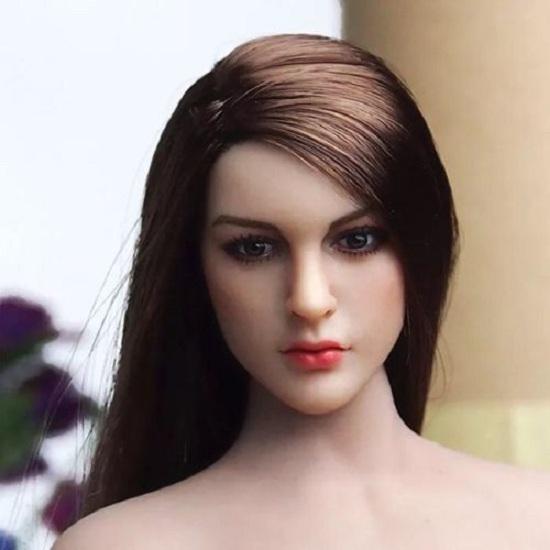KIMITOYS Female Action Figure Head KT005 1//6 scale Long Hair Head Sculpt KT005