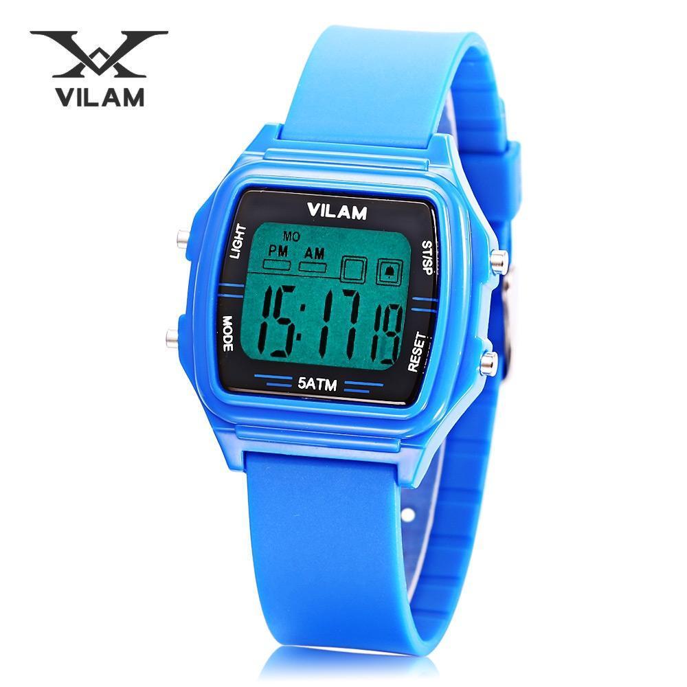 60dbf61d8dcb VILAM 11025 deportes Digital reloj luz LED fecha día Cronógrafo ...