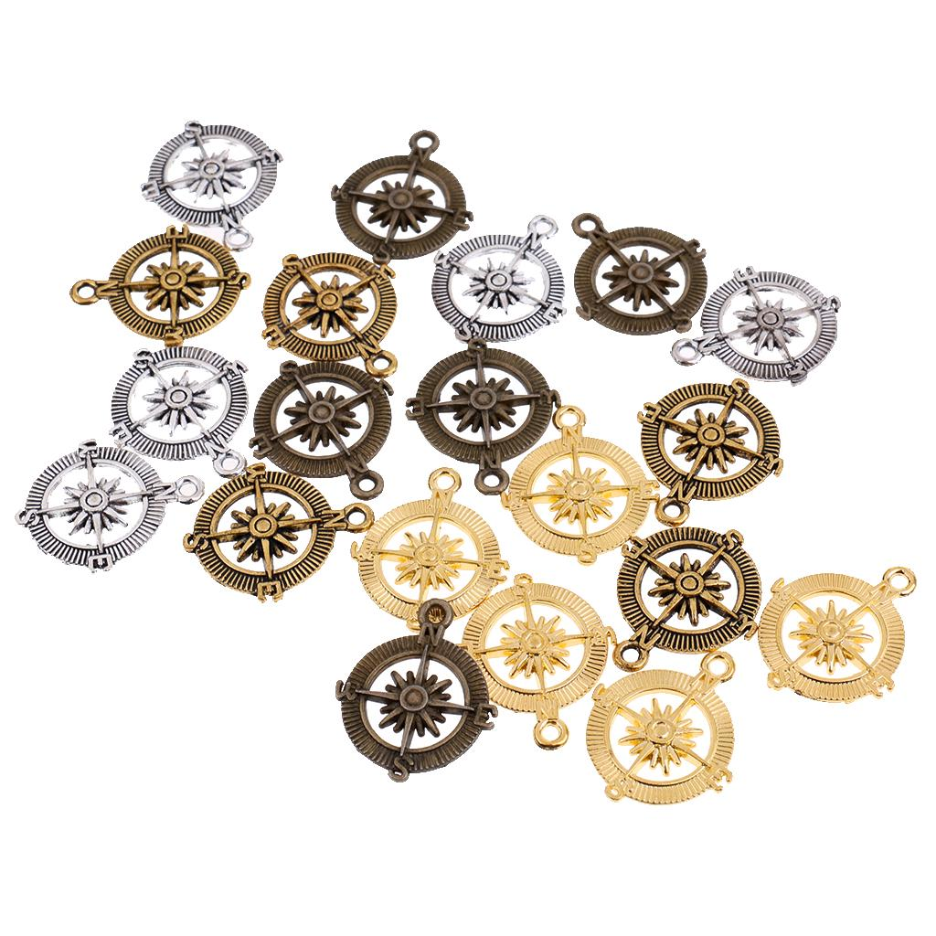 20pcs Jewelry Making Charms DIY Jewelry Crafts Charms Pendants Vintage Decor