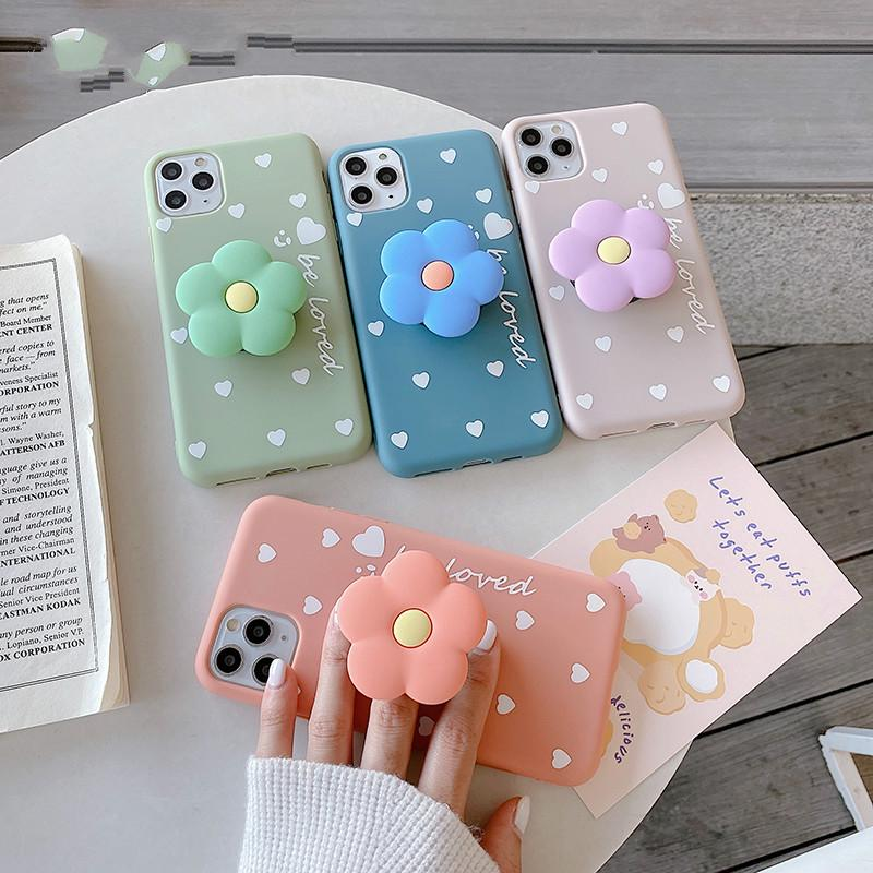 3D Lovely Flower Holder Stand Soft Phone Case for Iphone 11 Pro Max X XS XR 6S 7 8 Plus Cute Cover Fpr Iphone SE 2020 Coque-buy at a low prices on ...