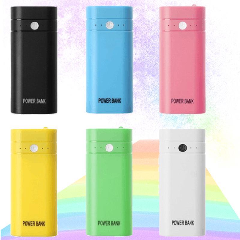 2X 18650 USB Power Bank Аккумулятор Зарядное устройство DIY Box для телефона poverbank для iPhone портативной зарядки внешней батареи