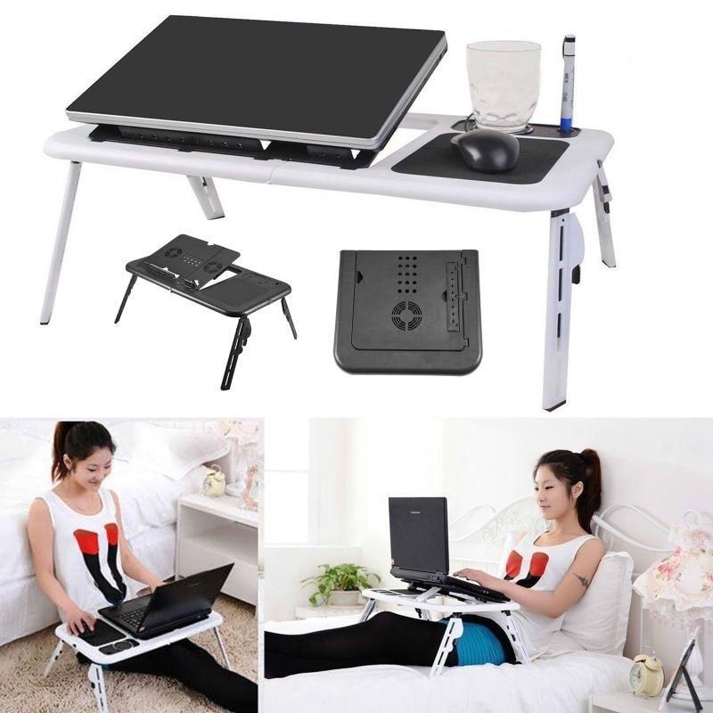 Adjustable Portable Folding Table, Portable Folding Desk Pc Laptop Bed Table