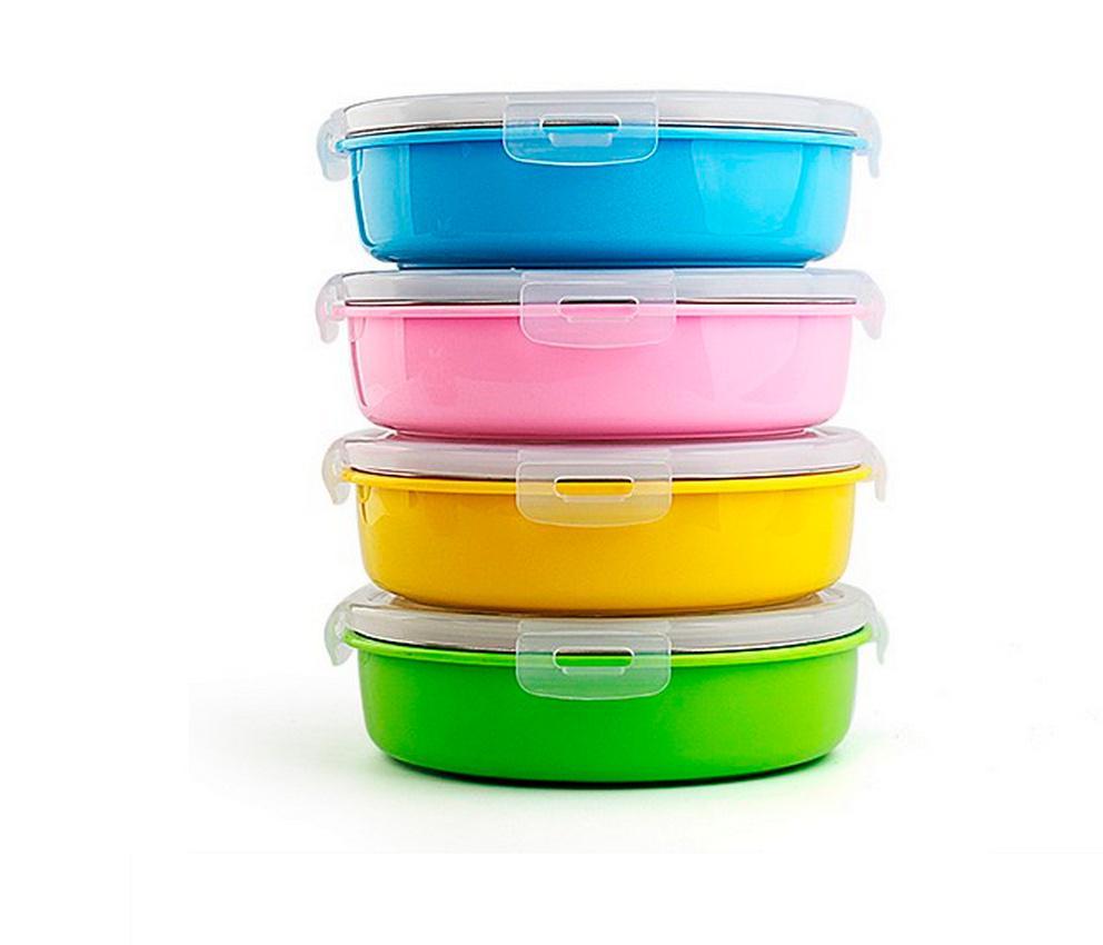 3 Gitter aus rostfreiem Stahl thermische Bento Lunch-Box für Kinder ...