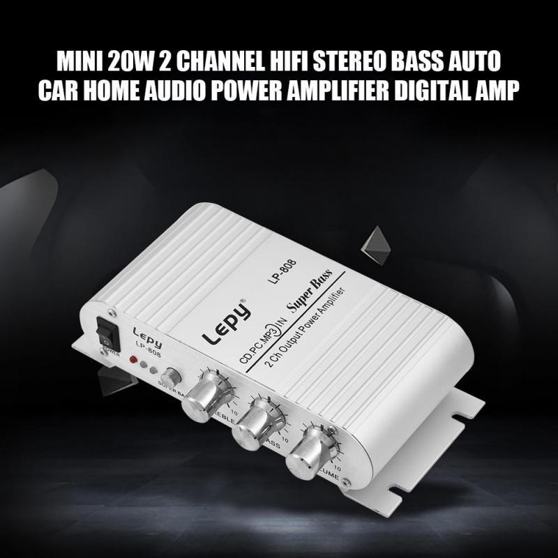 20W Dual 2 Channel HiFi Stereo Audio Power Amplifier for home // Car audio Boats Mini Power Amplifier,20W MP3 Etc Motorcycles