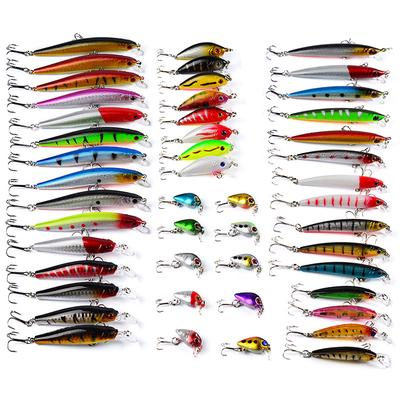 Lots 20pcs Fishing Hooks Treble With Feather For Minnow Fishing Lures Crankbaits