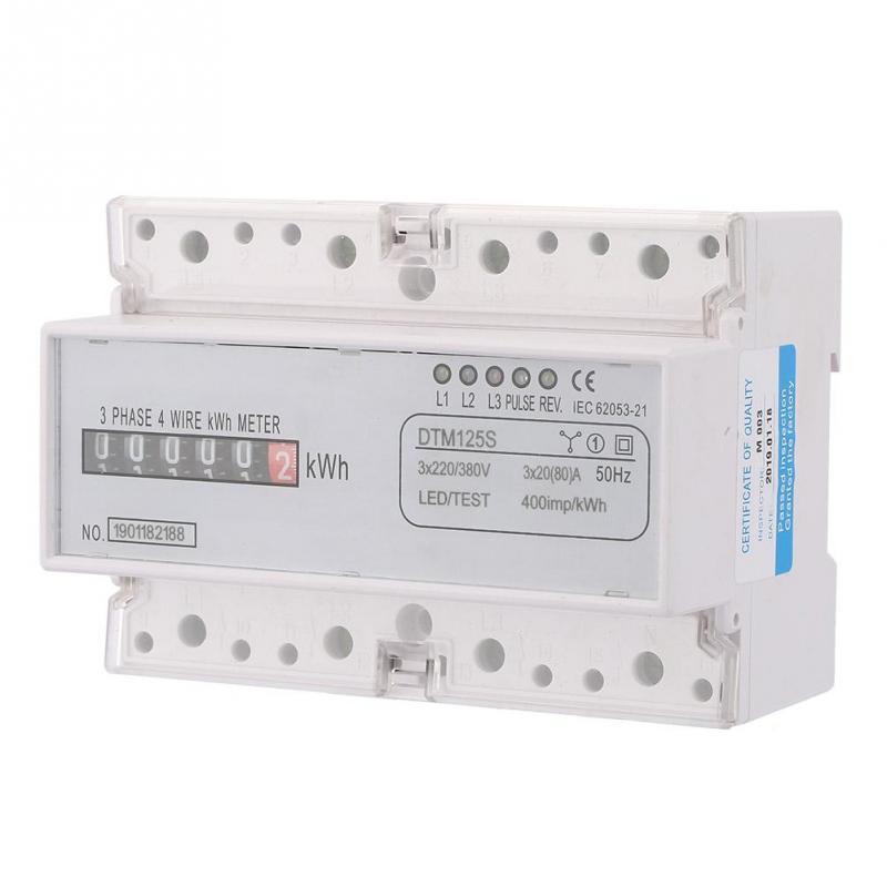 60Hz 4P LCD Consommation Electrique Wattm/ètre Compteur dEnergie avec Montage sur Rail DIN de 35 mm Compteur dEnergie DDM75SR Monophas/é 220V 230V 15-60A 50P