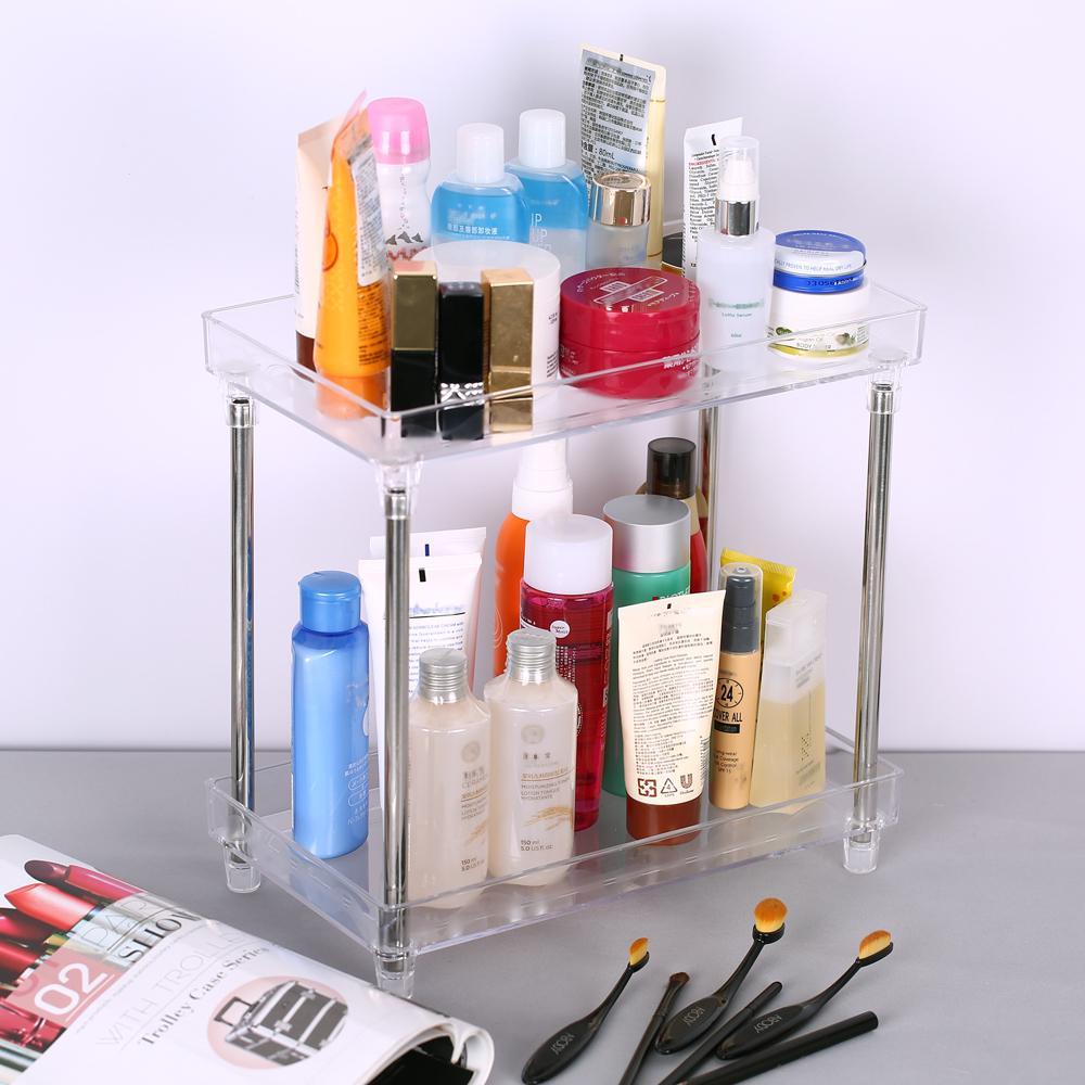 Multi Functional 2 Tier Cosmetic, Bathroom Organizer Tray
