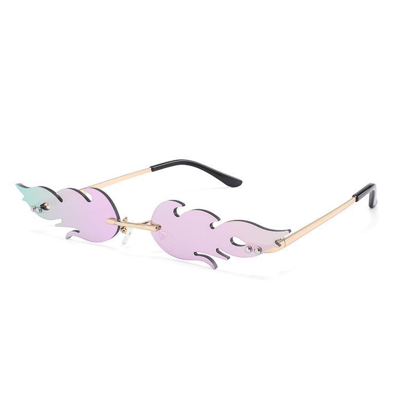 Moda Yangın alev güneş gözlüğü kadın erkekler çerçevesiz dalga streetwear  güneş gözlük Trend dar gözlük – online alışveriş sitesi Joom'da ucuza  alışveriş yapın