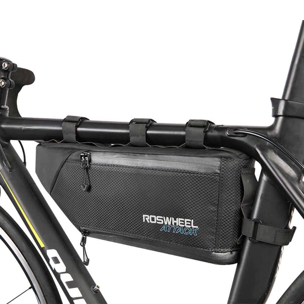 Waterproof Bike Triangle Bag Hard Shell MTB Road Bicycle Tube Frame Pack Carrier