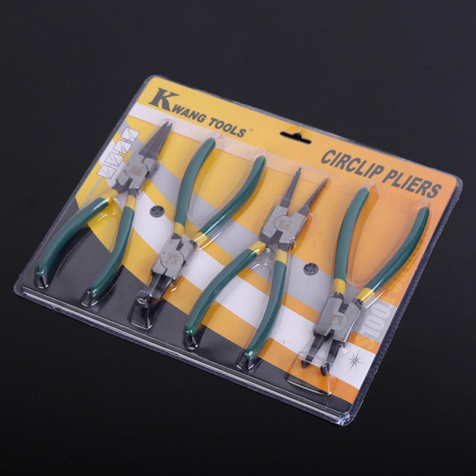 Multifunctional Snap Ring Pliers Internal External Retaining Circlip Yellow