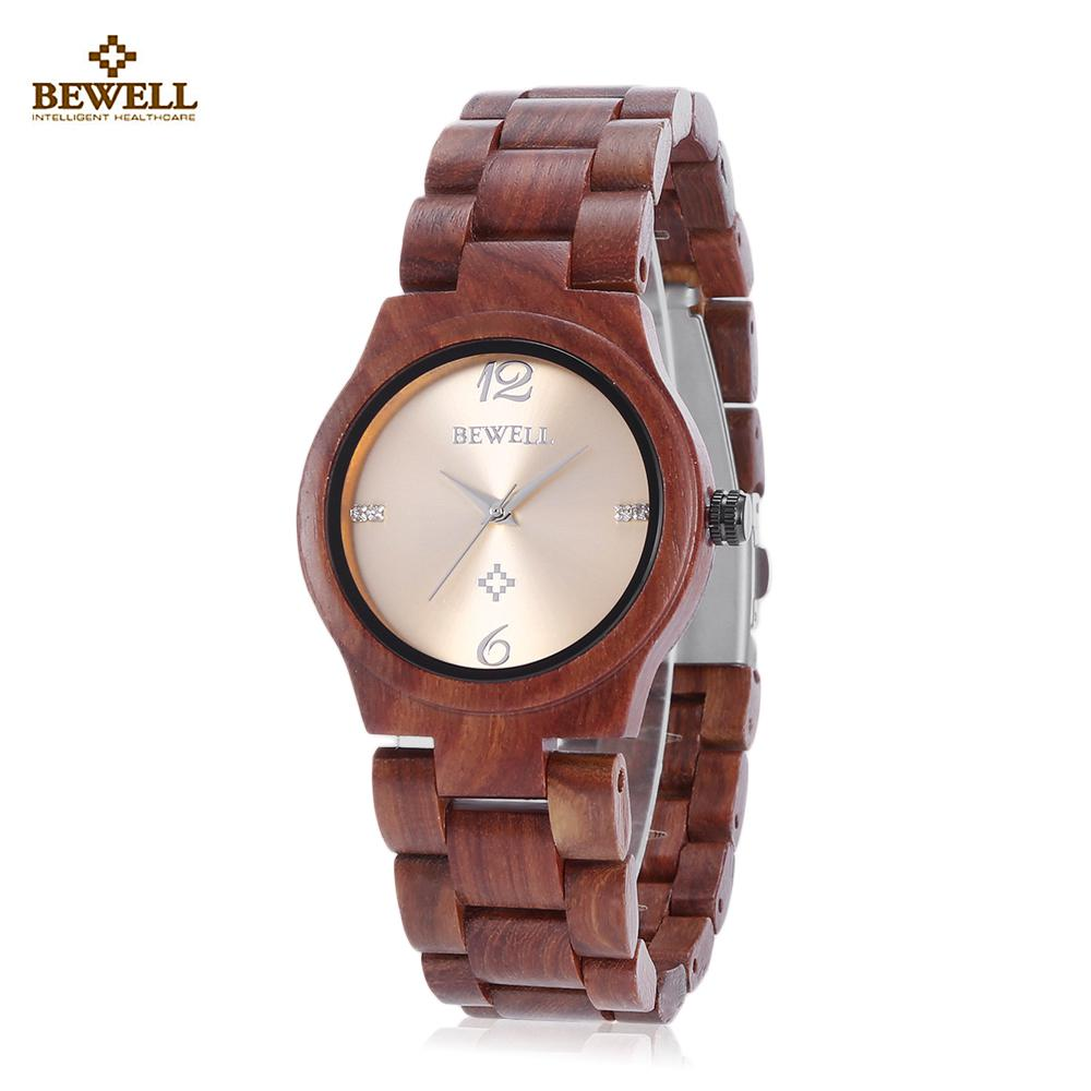 d9eab8fd57fe BEWELL ZS - W153A reloj madera mujer remolino marcas Dial Natural ...