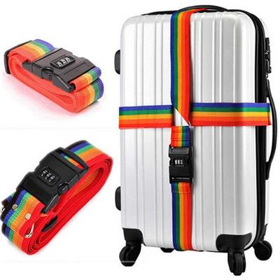 2m Adjustable Luggage Strap with Combination Lock Travel Baggage Tie Down Belt