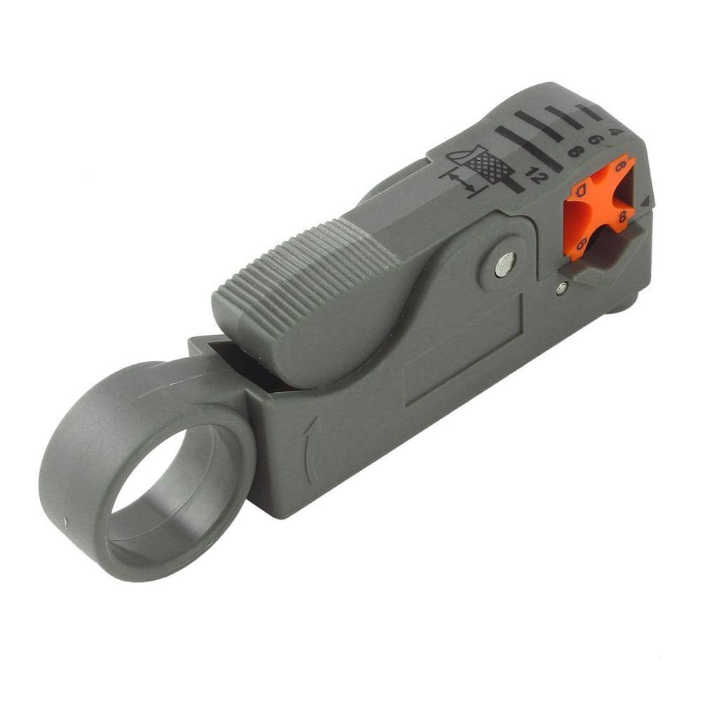 Rotary Coax Coaxial Cable Wire Stripper Cutter Tool RG58  RG59 RG6 Quad Shield