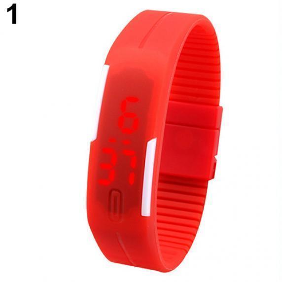 硅胶led手表 磁铁扣休闲运动手环电子表