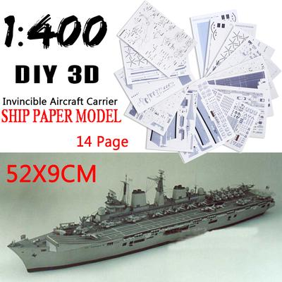 1/200 Large 3D Paper Model Battleship Ship Military DIY Toy High