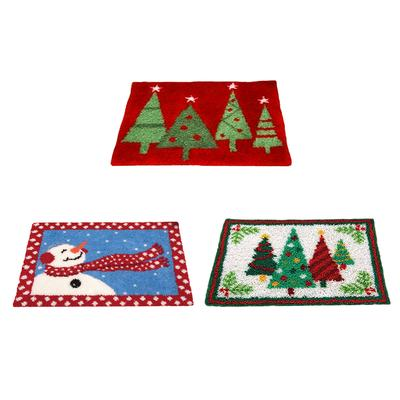 Latch Hook Kits Christmas Motif Rug Carpet Cushion Making Kit Xmas Decor