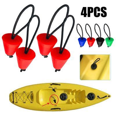 Set Of 4 Universal Kayak Scupper Plugs Drain Holes Stopper Bung