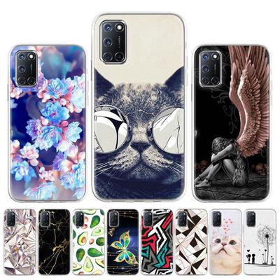 Soft Case for Oppo Realme C11 Case Silicone for Oppo A52 A92 A72 4G Cover Cute Cat Animal Flowers Patterned Phone Bumper