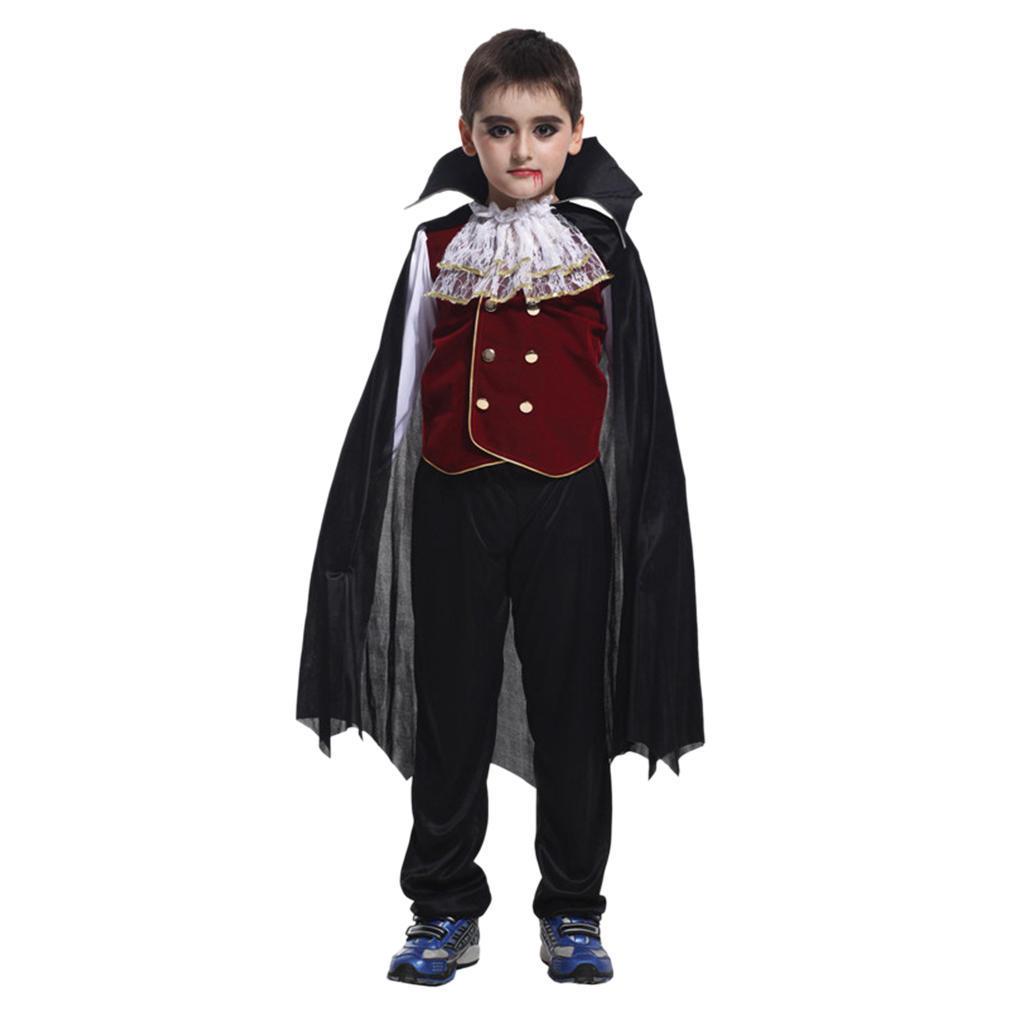 Vampire Kit Mens Fancy Dress Evil Dracula Adults Halloween Costume Accessory Set