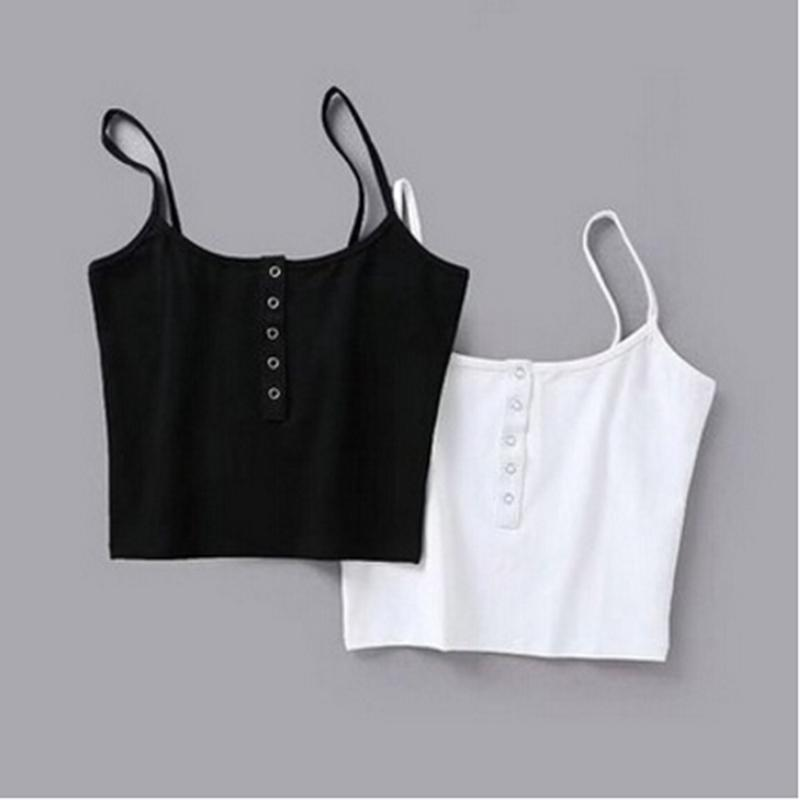WOMEN SCOOP NECK CROPPED BELLY TOP SLEEVELESS FITTED TEE STRETCHY VEST 5Colors