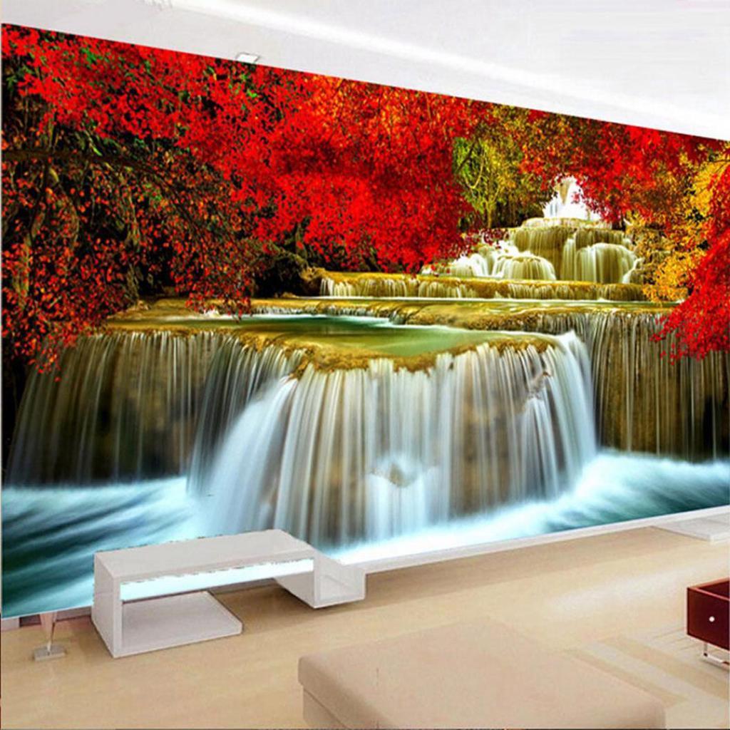 80x30cm große Harz Diamond Malerei Wasserfall Landschaft