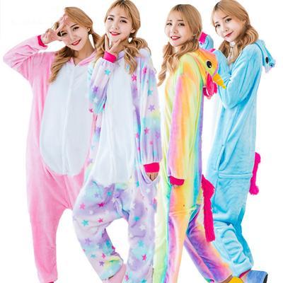 Adult Unicorn pajamas for women unicorn onesie Animal Pyjamas girls Flannel  onesies for adults 5f3cbea13