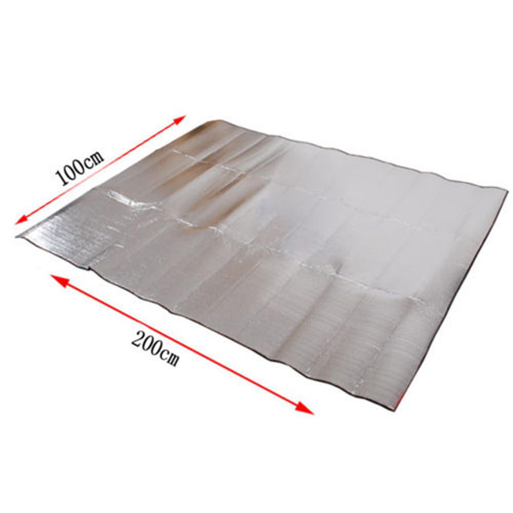 Double-sided aluminum foil outdoor camping waterproof floor mat picnic 200*200cm