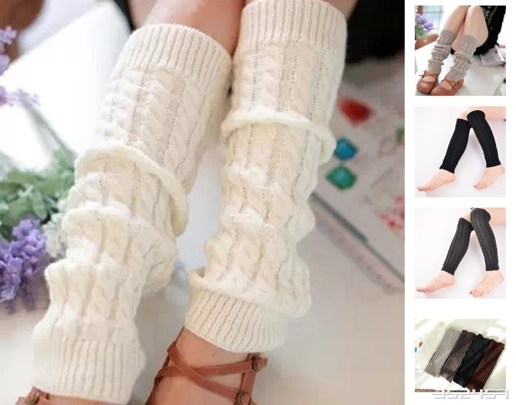 las mujeres las niñas pierna mangas envoltura ganchillo polainas Trim  arranque tapón Calcetines Medias Meias