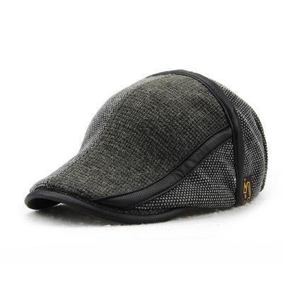 Winter England Autumn Knit Cap Hat Fashion Men Warm Thick Plush Casual Vintage Beret