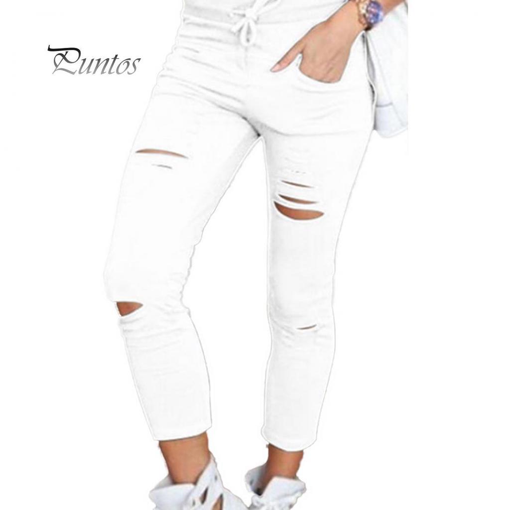 По всему миру продаются однотонные узкие брюки с завязками и завязками с высокой талией, рваные узкие леггинсы – купить по низким ценам в интернет-магазине Joom