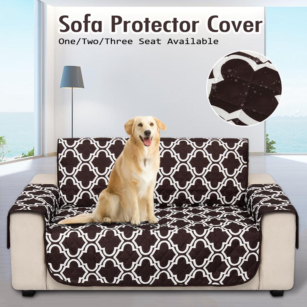 1//2//3 Seater Sofa Cushion Cover Mat Slipcover Pet Couch Protection Pad Removable