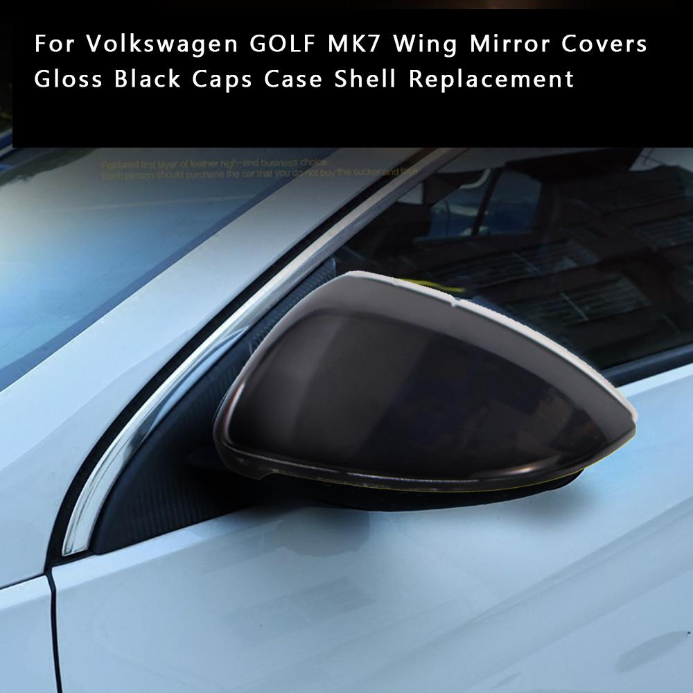 For Volkswagen Golf Mk7 Wing Mirror Covers Gloss Black Caps Case Shell Replacement Buy At A Low Prices On Joom E Commerce Platform