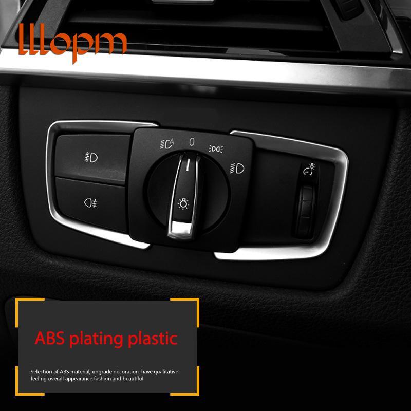 Carbon Fiber Door Window Button Switch Frame Stickers Trim for BMW F20 F30 F34 F36 F80