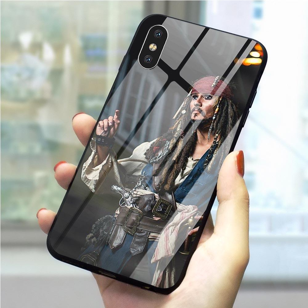 Pirates of the Caribbean Johnny Depp Phone Cover For iPhone 6 6S 6S 7 8 Plus XS XR I11 Pro Max Glass-buy at a low prices on Joom e-commerce platform