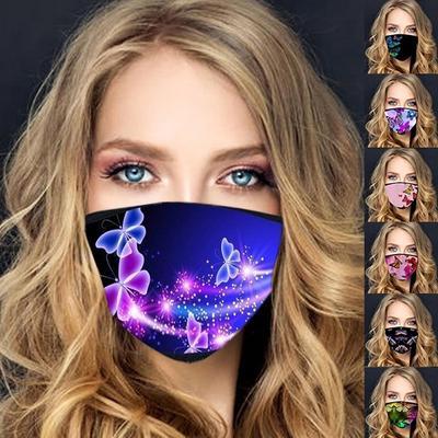 Trending Contemporary 3D Printed Butterfly Mask 100% Cotton Reusable Artist-Designed Face Masks