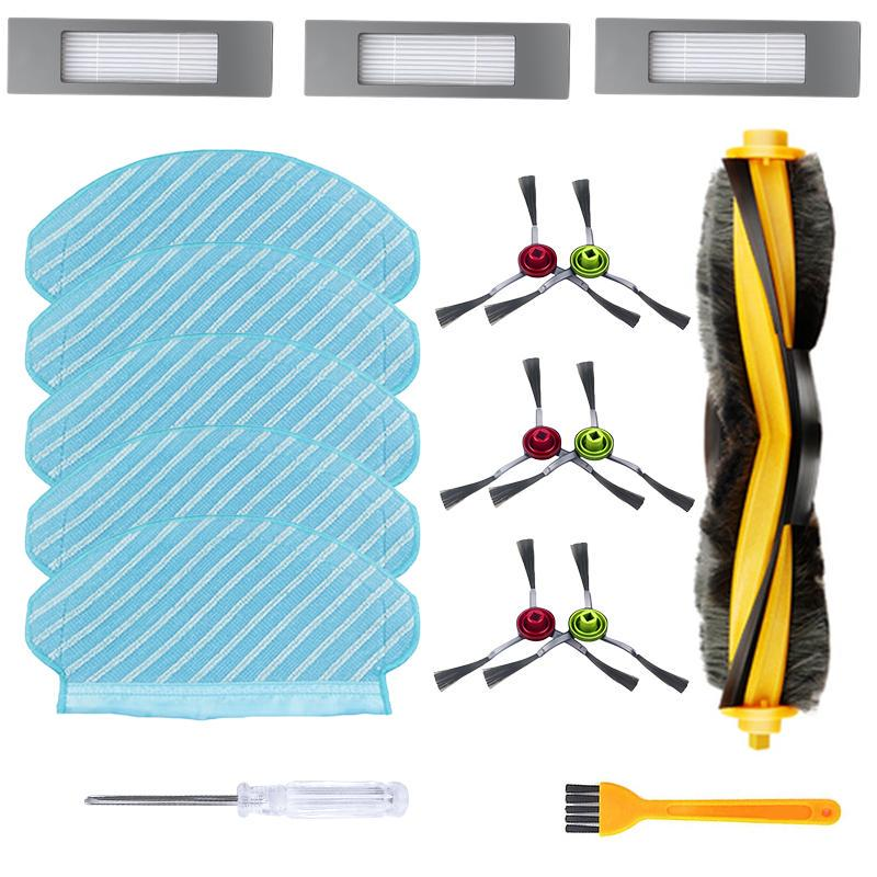 Side Main Brush Filter Roller Mop Cloth Set for Ecovacs Deebot OZMO 930 Vacuum