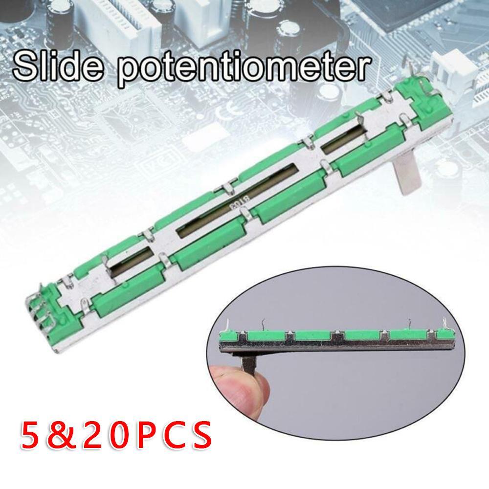 5шт 75 мм Берингер Миксер Fader B10K Двойной прямой слайд Potentiometer – купить по низким ценам в интернет-магазине Joom