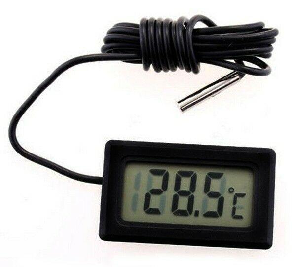 1шт водонепроницаемый ЖК-термометр температура метр датчик датчика автомобиля вода – купить по низким ценам в интернет-магазине Joom