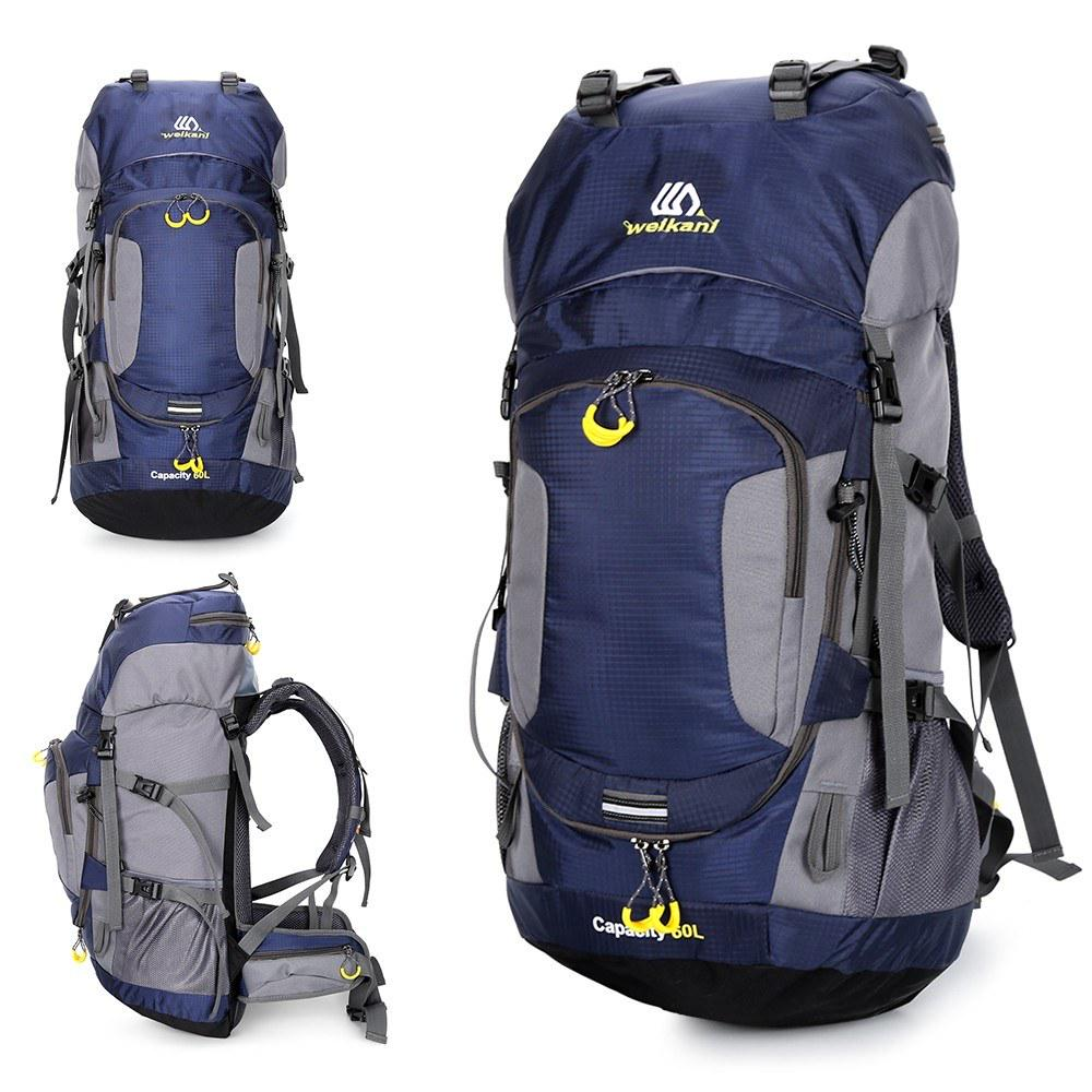 Details about  /40L 60L Outdoor Waterproof Camping Hiking Bag Mountaineering Backpack E6