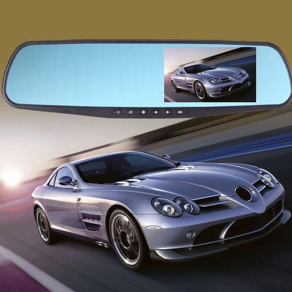 Full HD 1080P 4.3 видео камеры DVR рекордер тире Cam зеркало заднего вида автомобиля  – купить по низким ценам в интернет-магазине Joom