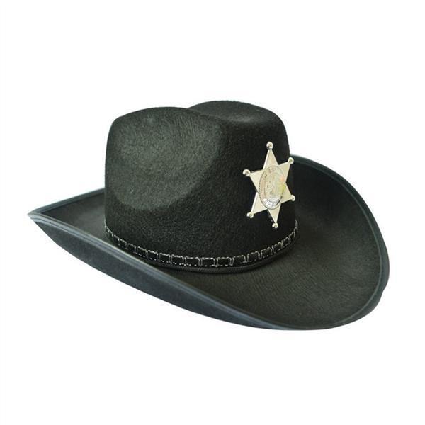 NUOVO Unisex cappello cowboy in pelle scamosciata LOOK Selvaggio West Costume Uomo Donna Cowgirl Cappelli