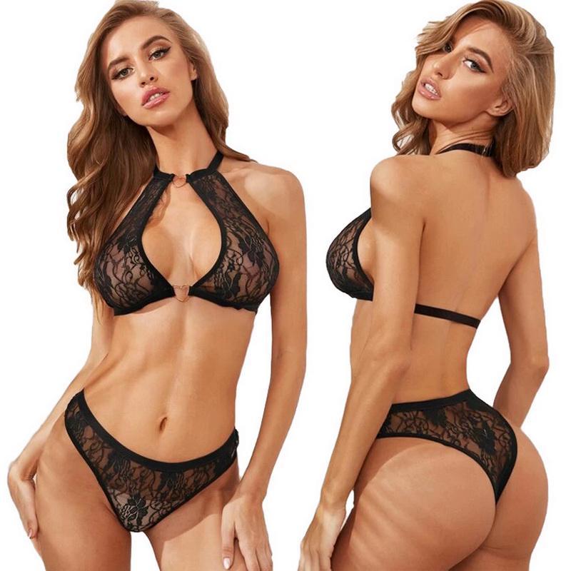 Women Lace Bra Sexy-Lingerie Nightwear Under-wear G-string Babydoll Sleepwear