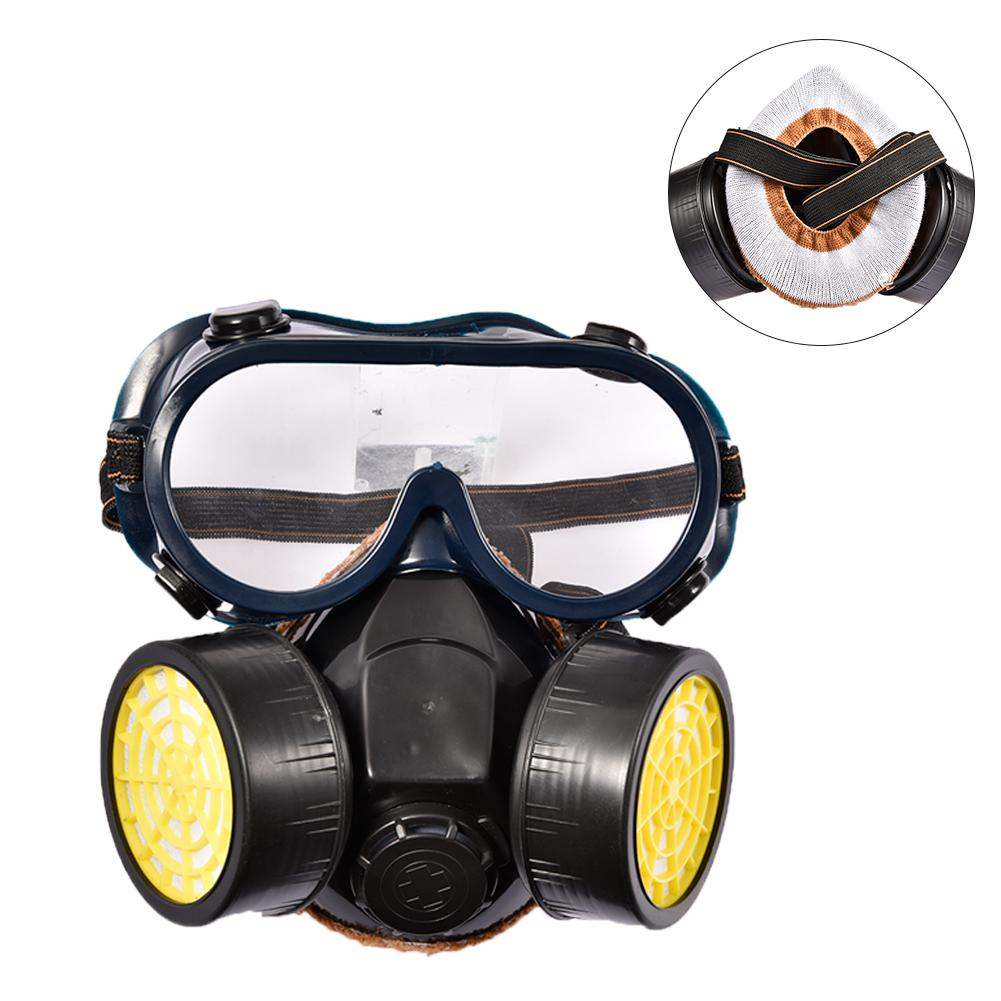 Emergency Survival Safety Respiratory Gas Mask Goggles /&2 Dual Protection Filter